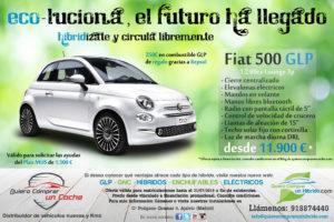 Fiat 500 1.2 69cv GLP Lounge Hibrido Hybrid ECO