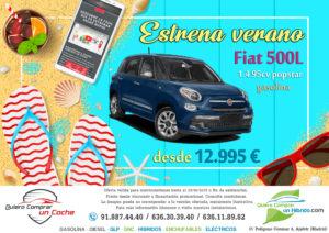 FIAT 500L POPSTAR OFERTA QUIERO COMPRAR UN COCHE MADRID AJALVIR