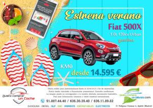 OFERTA FIAT 500X URBAN QUIERO COMPRAR UN COCHE MADRID AJALVIR