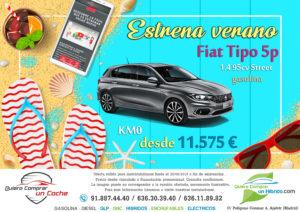 FIAT TIPO 5P OFERTA QUIERO COMPRAR UN COCHE MADRID AJALVIR