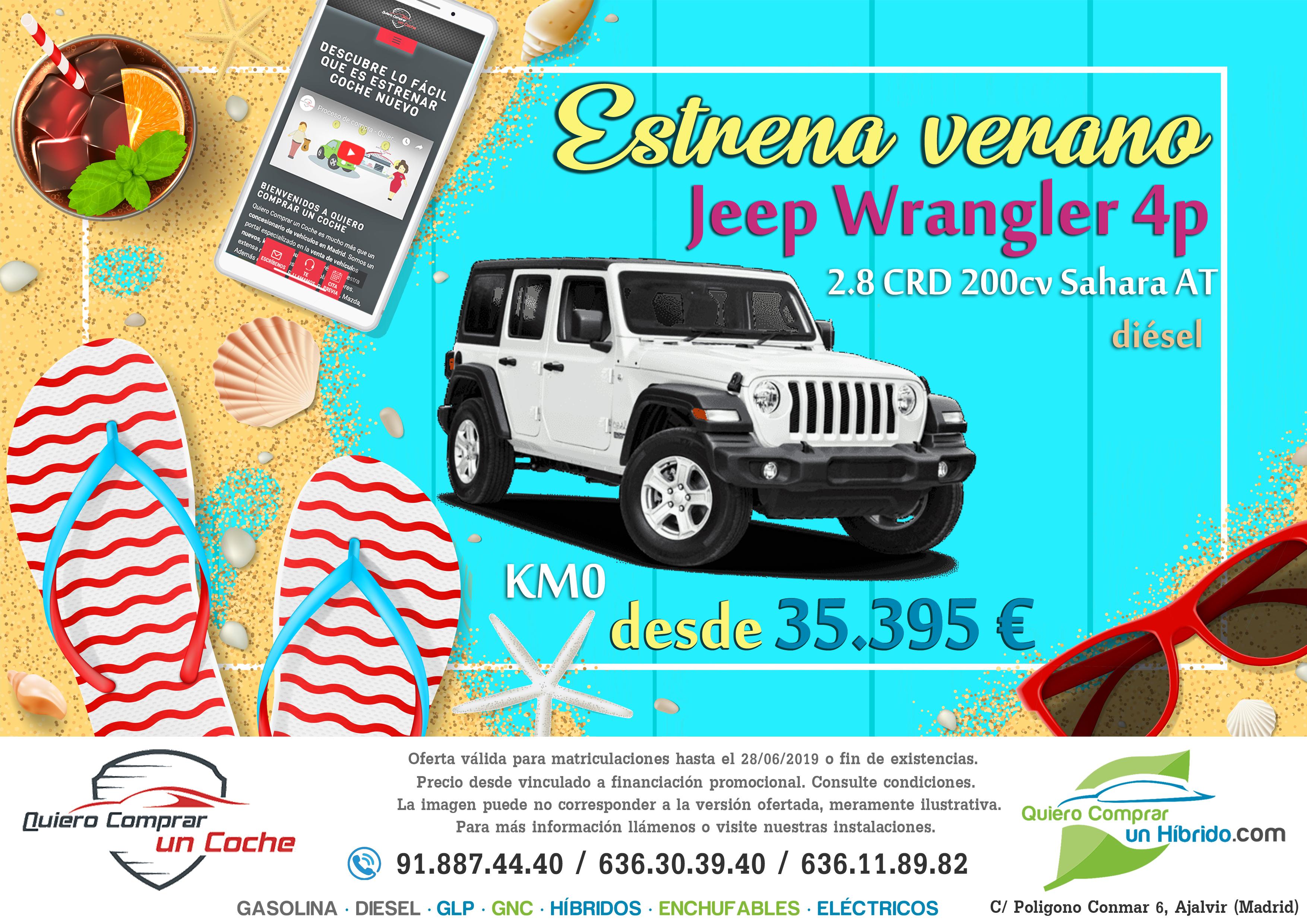 JEEP WRANGLER 4P OFERTA QUIERO COMPRAR UN COCHE MADRID AJALVIR
