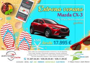 MAZDA CX3 OFERTA QUIERO COMPRAR UN COCHE MADRID AJALVIR
