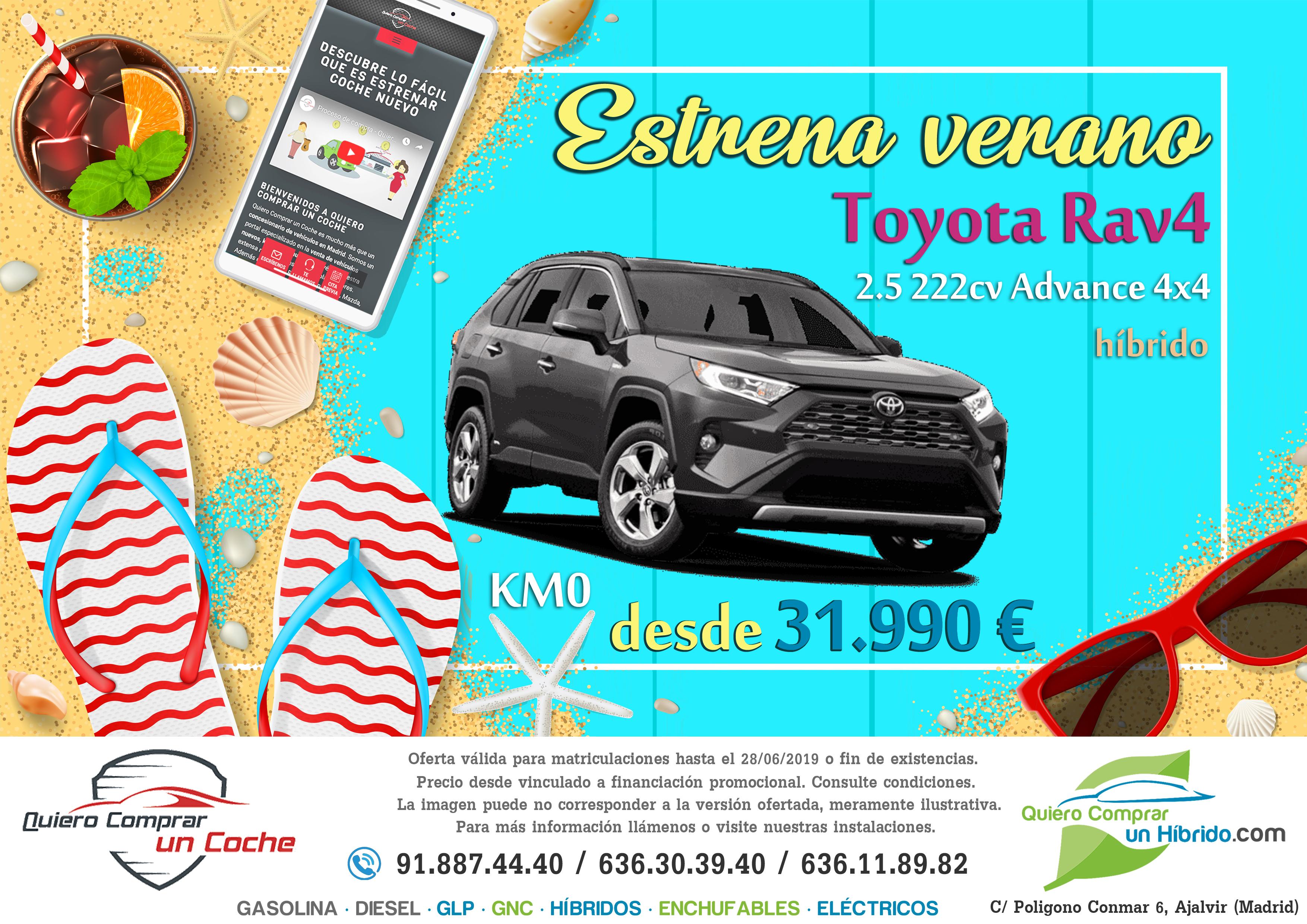 TOYOTA RAV4 2019 ADVANCE 4X4 OFERTA QUIERO COMPRAR UN COCHE MADRID AJALVIR