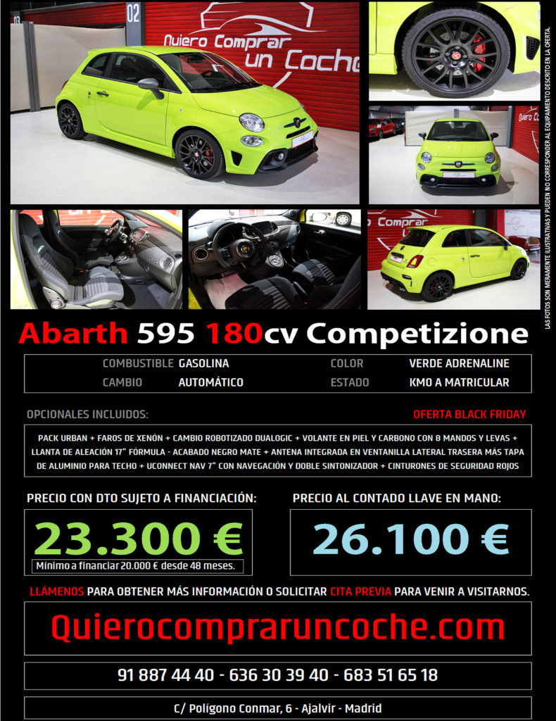 ABARTH COMPETIZIONE VERDE ADRENALINE BLACK FRIDAY