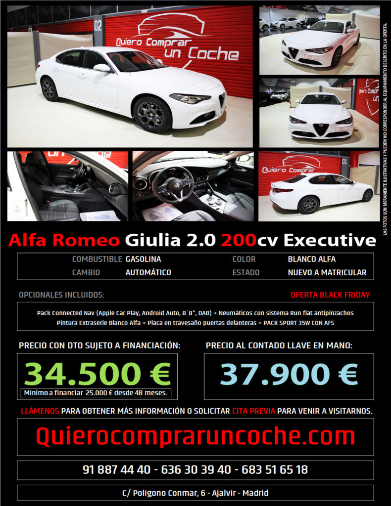 ALFA GIULIA EXECUTIVE BLANCO BLACK FRIDAY