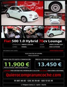 FIAT 500 HYBRID VERDE LATTEMENTA BLACK FRIDAY