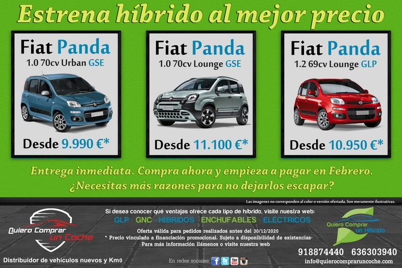 FIAT PANDA HIBRIDOS OFERTAS DICIEMBRE