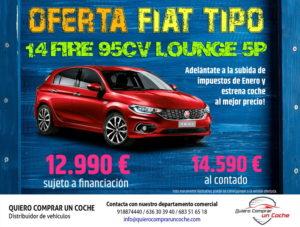 FIAT TIPO LOUNGE 5P OFERTAS DICIEMBRE