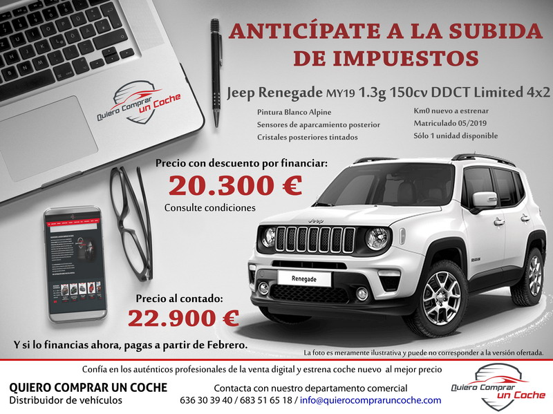 JEEP RENEGADE LIMITED DDCT BLANCO KM0