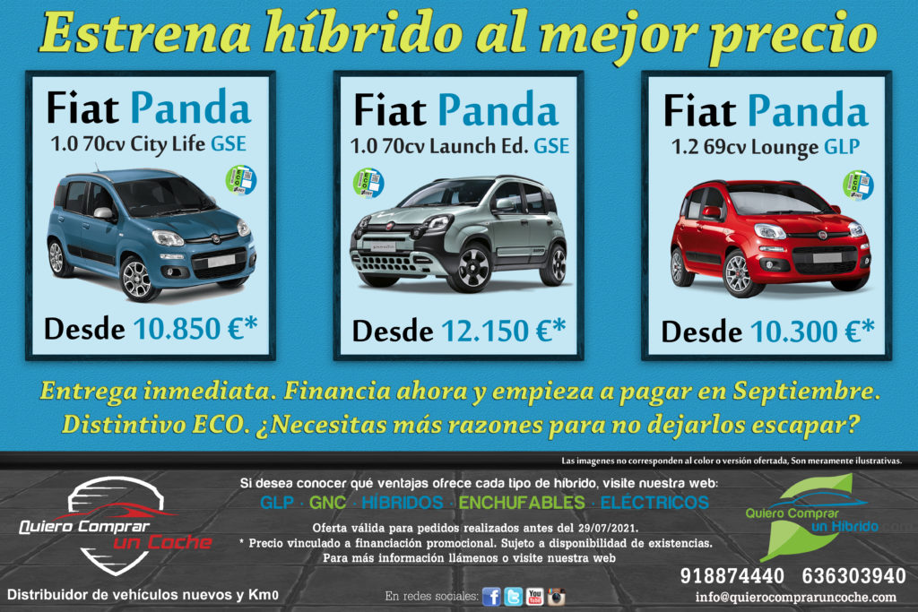 PROMO JULIO CAMPAÑA FIAT PANDA HIBRIDOS QUIERO COMPRAR UN COCHE