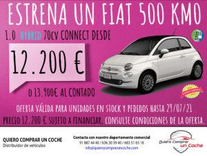 PROMO JULIO FIAT 500 HYBRID VN CONNECT QUIERO COMPRAR UN COCHE