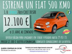 OFERTA JULIO FIAT 500 HYBRID QUIERO COMPRAR UN COCHE