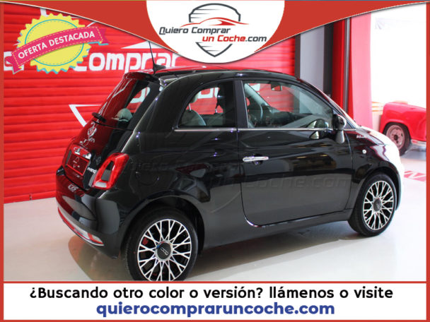 FIAT 500 MY21 DOLCE VITA NEGRO VESUBIO CLIMA+LL16 + COMFORT