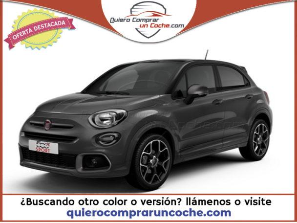 FIAT 500X MY21 SPORT BICOLOR GRIS MODA LLANTAS NEGRAS