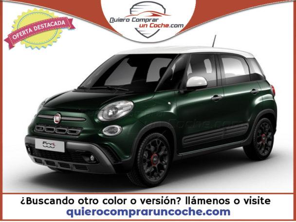 FIAT 500L MY21 CROSS BICOLOR VERDE TOSCANA BLANCO LLANTA 17 NEGRA